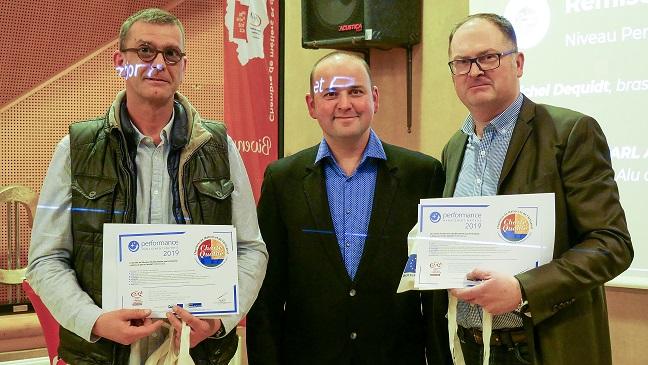Chartes Qualité Niveau Performance - Cédric PIERRU SARl Alu Gouttière et Michel Dequidt, Brasserie des Dunes de Flandres